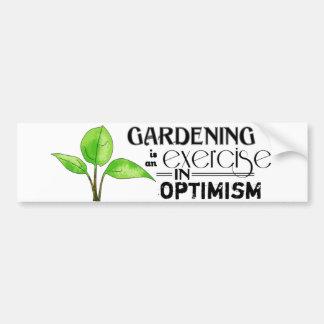 Att arbeta i trädgården är en öva i optimism bildekal
