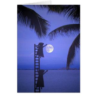 Att att ge dig månen hälsningskort