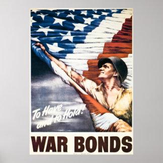 Att att ha och rymma - krigförbindelser - vintage  poster