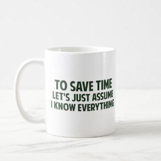 Att att spara Time l5At oss precis anta mig vet Kaffemugg