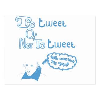 Att att tweet eller att inte tweet vykort