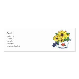 Att bevattna för land kan w/Flowers profilera kort Visit Kort
