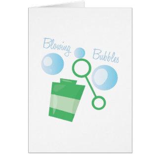 Att blåsa bubblar hälsningskort