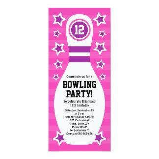 Att bowla klämmer fast födelsedagsfest inbjudan