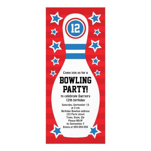 Att bowla klämmer fast födelsedagsfest inbjudan me