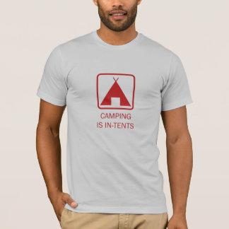 Att campa är I-Tält som är röda Tee Shirt