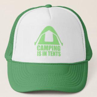 Att campa är i tält truckerkeps