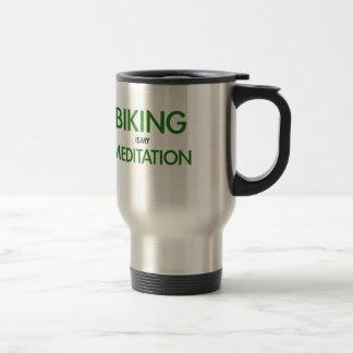 Att cykla är min meditation resemugg