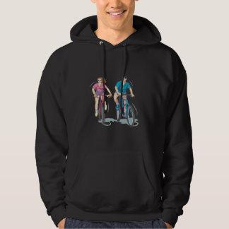 Att cykla kopplar ihop sweatshirt med luva