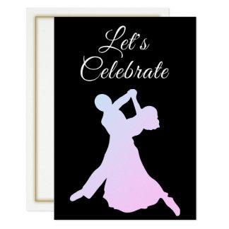 Att dansa kopplar ihop partyinbjudan 8,9 x 12,7 cm inbjudningskort