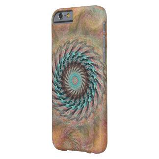 Att dyka upp rullar i persika- och för Aqua Barely There iPhone 6 Fodral