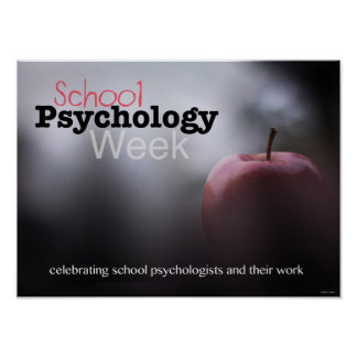 Att fira skolar psykologiveckaaffischen poster
