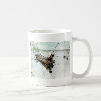 Att fiska med förtjänar 1905 kaffemugg