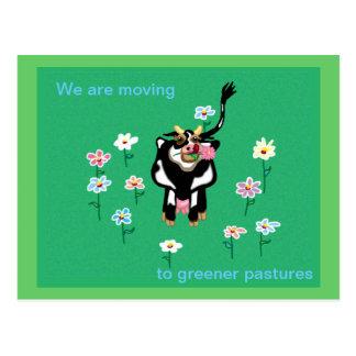 Att flytta sig till mer grön betar vykort
