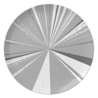 Att försvinna för grå färg pekar middagen pläterar tallrik