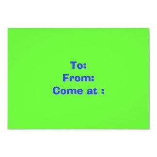 Att: Från: Kom på: 12,7 X 17,8 Cm Inbjudningskort