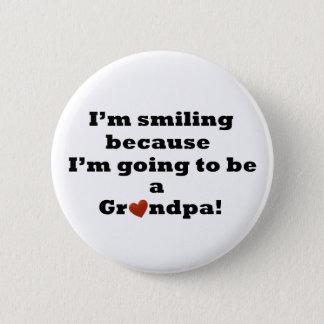 Att gå att vara en morfar knäppas standard knapp rund 5.7 cm