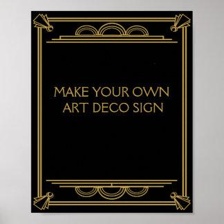 Att gifta sig eller partyet Sign för art déco gör Poster