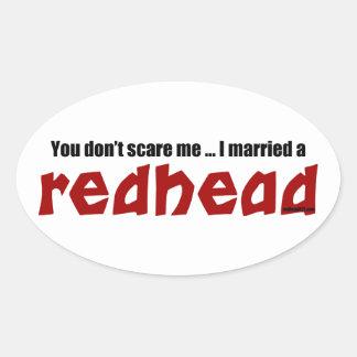 Att gifta sig en rödhårig ovalt klistermärke