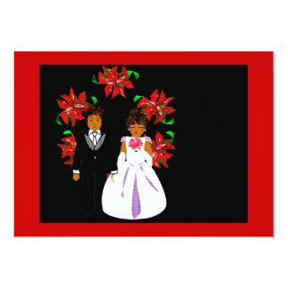 Att gifta sig för jul kopplar ihop kranen i rött skräddarsydda inbjudan