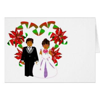 Att gifta sig för jul kopplar ihop med hjärtakran OBS kort