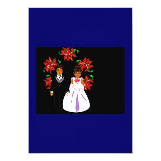 Att gifta sig för jul kopplar ihop med individuella inbjudningskort