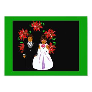Att gifta sig för jul kopplar ihop med kort för inbjudningar