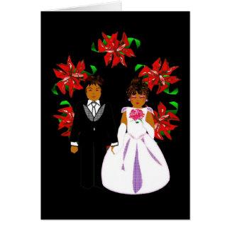 Att gifta sig för jul kopplar ihop med kranen OBS kort