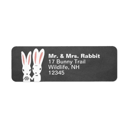 Att gifta sig för kaninkaniner kopplar ihop returadress etikett