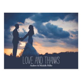 Att gifta sig för kärlek och för härvor tackar dig vykort