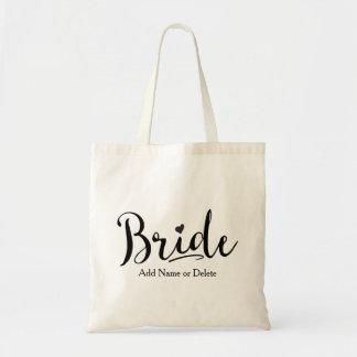 Att gifta sig hänger lös för brud, totot för budget tygkasse