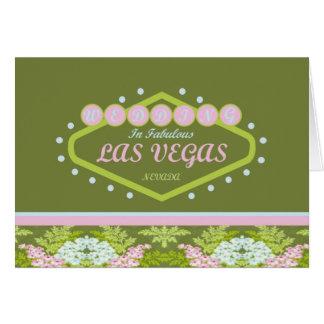 ATT GIFTA SIG i den Las Vegas våren färgar kortet