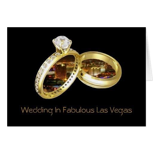 """Att gifta sig i sagolika Las Vegas """"RINGER"""" kortet Hälsningskort"""