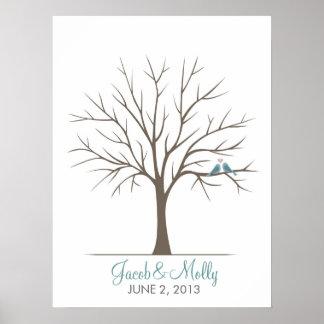 Att gifta sig identifierar med fingeravtryck träd  affischer