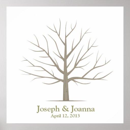Att gifta sig identifierar med fingeravtryck träd  posters