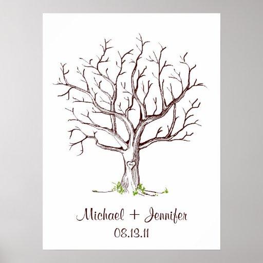 Att gifta sig identifierar med fingeravtryck trädG Affischer