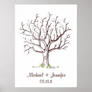 Att gifta sig identifierar med fingeravtryck trädG Poster
