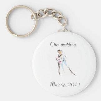 Att gifta sig kopplar ihop rund nyckelring