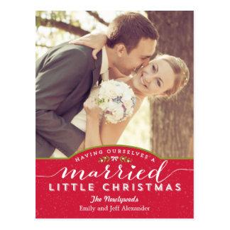 Att gifta sig lite julhelgdagvykort vykort
