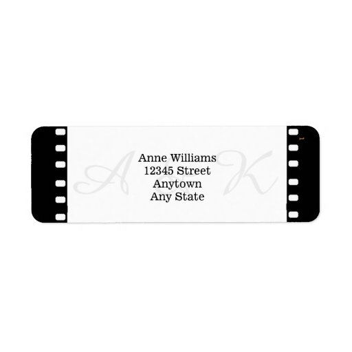 Att gifta sig med en film filmar tema returadress etikett