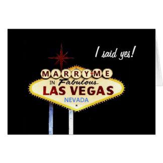 Att gifta sig mig i Las Vegas, sade jag ja! Kort