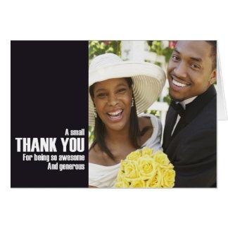 Att gifta sig tackar dig att card hälsningskort