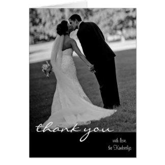 att gifta sig tackar dig att card OBS kort