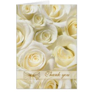 Att gifta sig tackar dig att card - vit-kräm ro