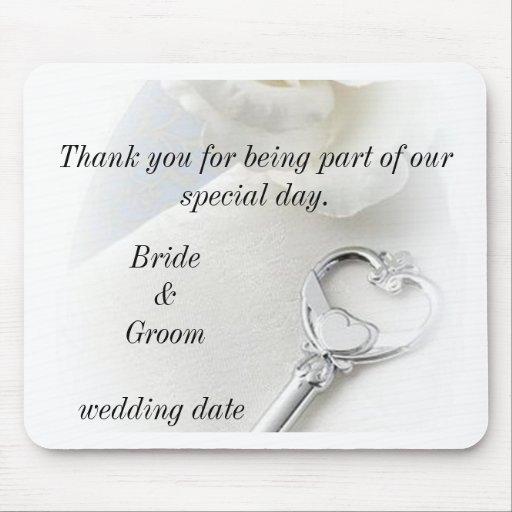 att gifta sig tackar dig gåvamousepad mus matta