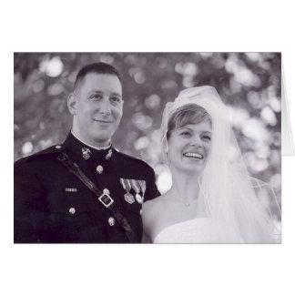 Att gifta sig tackar dig hälsningskort