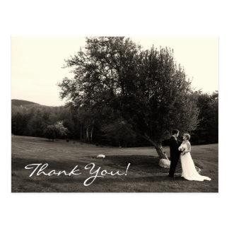 Att gifta sig tackar dig vykort