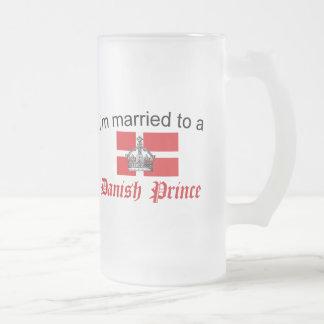 Att gifta sig till danskaprincen frostat ölglas