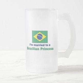 Att gifta sig till en brasiliansk Princess Frostat Ölglas