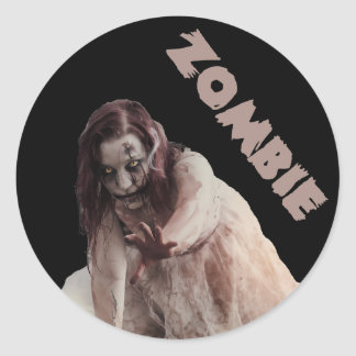 Att gifta sig Zombie Runt Klistermärke